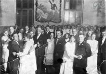 Szyby Blüchera lub Szyby Jankowice. Bal na zakończenie rozgrywek sportowych w palanta w latach 20-tych ub. wieku