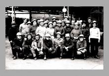 Brykietownia. Brygada młodzieżowa - lata 70/80-te ub. wieku