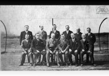 Działacze KS Szyby Jankowice w Boguszowicach - 1933