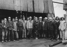 Głębienie szybu 7 kopalni Jankowice - 1969