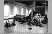 Lata 30-te ub. wieku - Maszyna wyciągowa parowa szybu I -  (skan zdjęcia ze zbiorów Muzeum Miejskiego w Zabrzu)