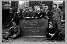 """1950 - Pogotowie ratownicze kopalń """"Jankowice"""" i """"Pstrowski"""", tuż po największym wypadku na kopalni, w którym zginęło 31 górników - (foto ze zbiorów kopalni/P. Głusiec)"""
