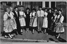 """Lata 70-te ub. - Zespół tańca regionalnego przy Klubie Górniczym KWK """"Jankowice"""" – (foto ze zbiorów M. Kuli)"""