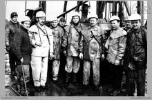1976 - 4) Zakończenie głębienia szybu VI – (foto ze zbiorów kopalni)