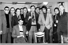 Lata 80-te ub. wieku - Spotkanie okolicznościowe pracowników dozoru wyższego - (foto ze zbiorów L. Adamczyka)