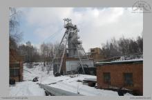 """1982 - Rejon szybu III """"Poniatowski"""" w zimowej scenerii – (foto pobrane z forum górniczego)"""