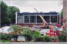 Lata 90-te ub. wieku - Dalsza budowa pływalni krytej, tym razem przez miasto Rybnik  - (foto ze zbiorów M. Semana)