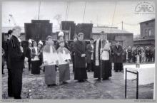1991 - 4) Uroczyste poświęcenie szybu 8 przez ks. biskupa Damiana Zimonia - (foto ze zbiorów kopalni)
