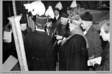 1991 - 2) Uroczyste poświęcenie szybu 8 przez ks. biskupa Damiana Zimonia - (foto ze zbiorów kopalni)