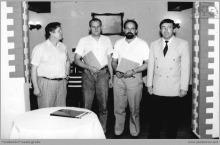1992 - 1) Podpisanie Zakładowej Umowy Zbiorowej - (foto ze zbiorów kopalni)