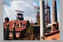 """2000 - Kopalnia """"Jankowice, budowa wieży szybu b - (ze zbiorów kopalni/fot. W. Mazur)"""