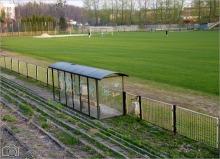 """Stadion sportowy KS """"Górnik"""" wybudowany przez kopalnię.   (Foto tedd55 - kwiecień 2011)"""