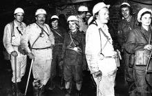 Zwiedzanie kopalni Jankowice - lata 70-te ub. wieku