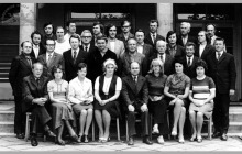 Grono pedagogiczne Zasadniczej Szkoły Górniczej przy KWK Jankowice w Boguszowicach - 1974