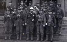 Oddział 01 kopalni Jankowice przed zjazdem - 1977