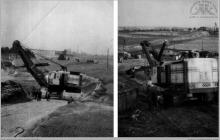 """1959 - Transport koparek z kopalni na nowe pole eksploatacyjne piasku """"Boguszowice"""" - (foto dostarczone przez M. Ochwata)"""