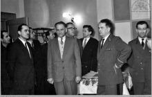 1960 - Uroczyste otwarcie NOT z udziałem ministra górnictwa i energetyki Jana Mitręgi i dyr. kopalni Józefa Żyły - (foto ze zbiorów kopalni/Muzeum w Rybniku)