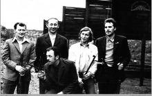 Lata 70-te ub. - Na strzelnicy kopalnianej – (foto ze zbiorów D. Kurczaka)