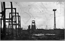 1970 - Budowa szybu 7 - (foto ze zbiorów kopalni)