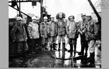 1976 - 5) Zakończenie głębienia szybu VI – (foto ze zbiorów kopalni)