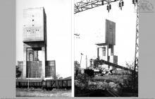 1977 - Widok na szyb 7 wydobywczy, skipowy – (foto ze zbiorów kopalni)