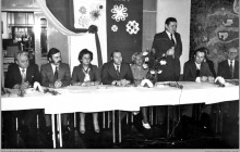 """1978 - Zebranie Ligi Kobiet w restauracji """"Foka"""" w Boguszowicach Osiedlu – (foto ze zbiorów kopalni)"""