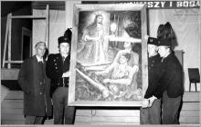 1980 - 1) Poświęcenie obrazu św. Barbary na cechowni szybu VI – (foto ze zbiorów kopalni)