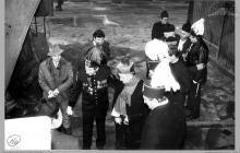 1991 - 1) Uroczyste poświęcenie szybu 8 przez ks. biskupa Damiana Zimonia - (foto ze zbiorów kopalni)