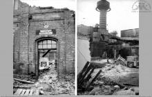 1992 - Wyburzanie budynku Warsztatów Mechanicznych na kopalni - (foto ze zbiorów kopalni)