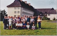 """1992 - Pracownicy kopalni """"Jankowice"""" w Arłamowie - (foto ze zbiorów M. Semana)"""